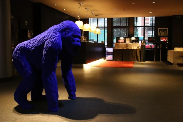 Blue Kong à l'accueil