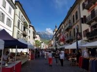 été dans le Val d'Hérens : Marché de Sion