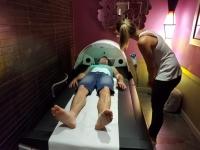 Séjour bien-être : Christophe sur table massage hydro-active Wellsystem