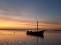 Ile Maurice : Coucher de soleil sur l'Océan Indien