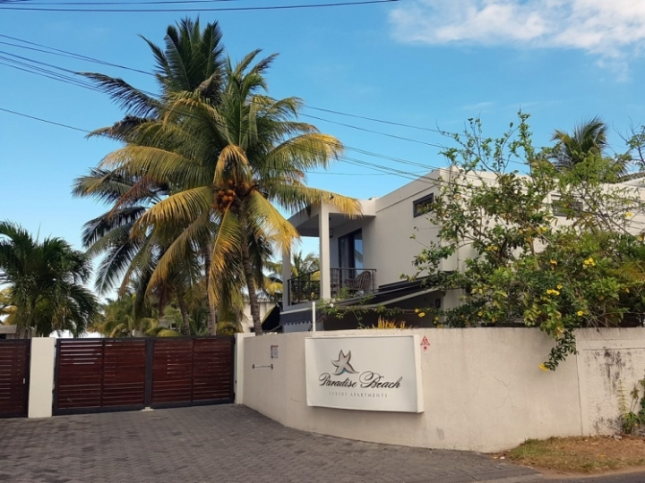 Paradise Beach : la résidence côté rue