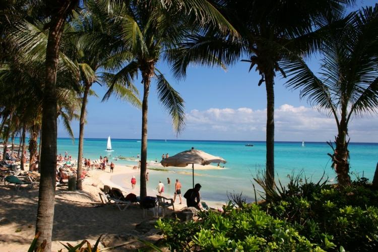 Plage paradisiaque de Playa del Carmen - Mexique