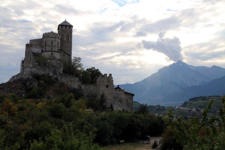 Val d'Hérens : Château à Sion