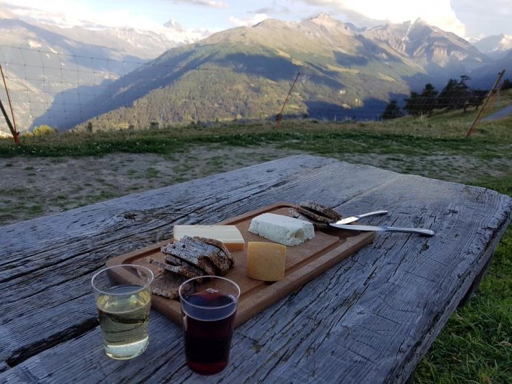 Val d'Hérens : Dégustation de vins et fromages