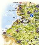 La Baie de Somme : carte de la Côte Picarde