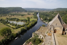 Le Périgord noir : Vue panoramique depuis Château de Beynac
