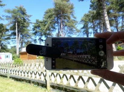 Usage d\'objectif Pixter sur smartphone