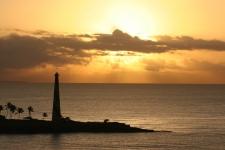 La République Dominicaine : lever de soleil