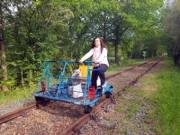 La Vendée : Vélo rail à Commequiers