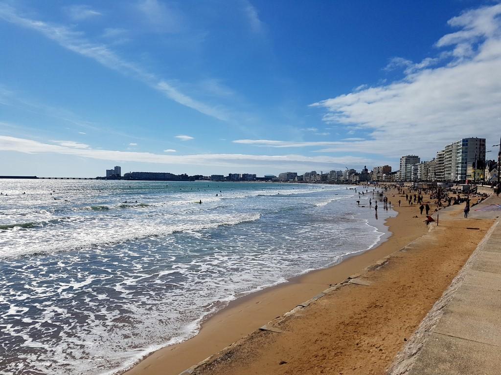 La Vendée : la plage des Sables d'Olonne