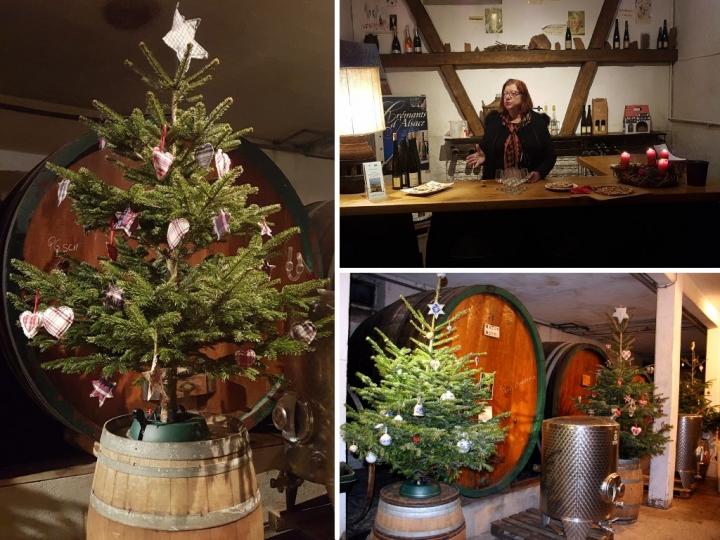 Petite année en Alsace : cave de Noël à Mittelwihr