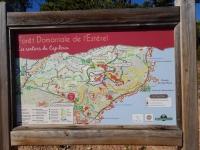 Randonner dans l'Esterel : carte des randonnées