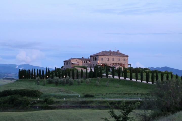 La Toscane : maison dans la campagne