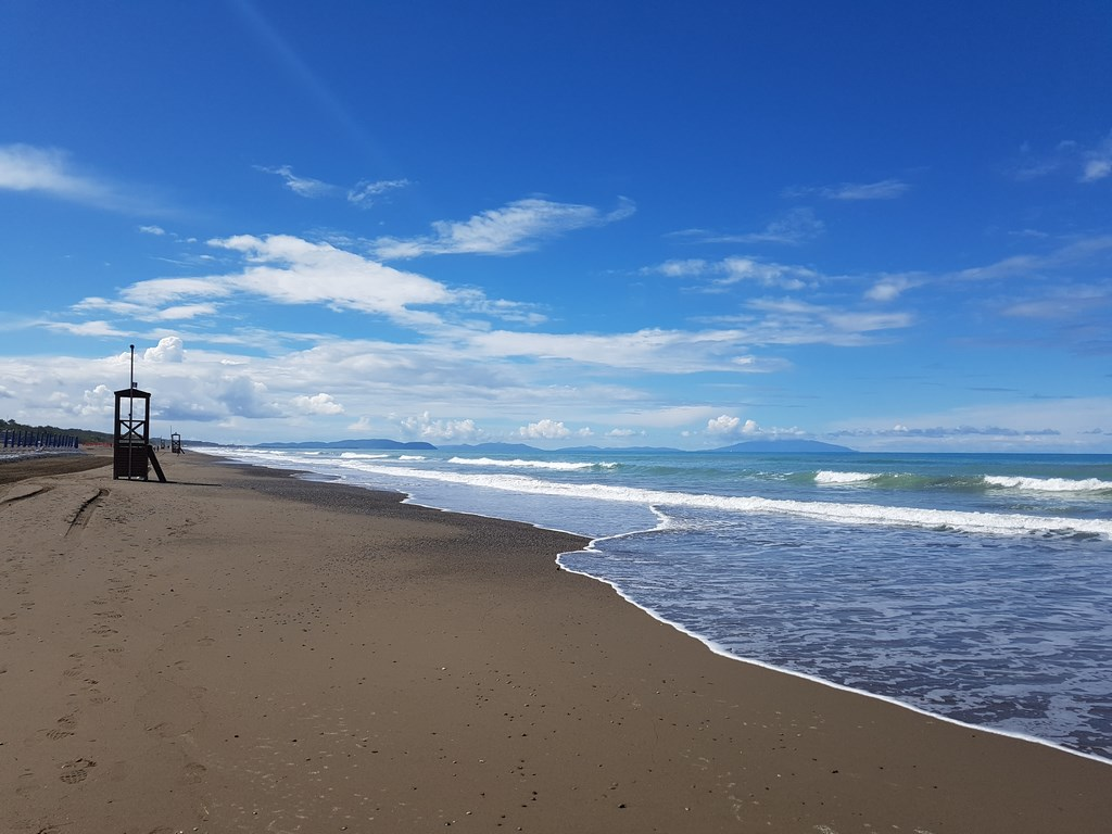 La Toscane : plage à Marina di Castagneto Caselli