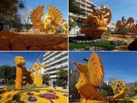 Côte d'Azur en Février : Exposition d'Agrumes - Fête du Citron à Menton