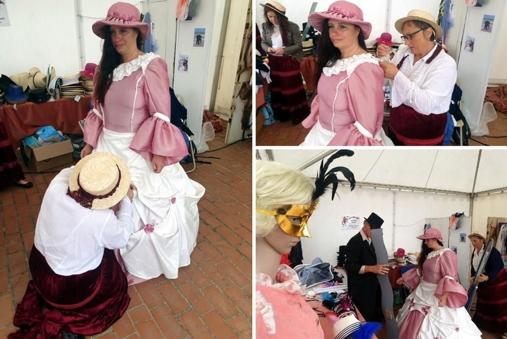 Essayage de robe durant la Fête des Baigneurs de Mers-les-Bains