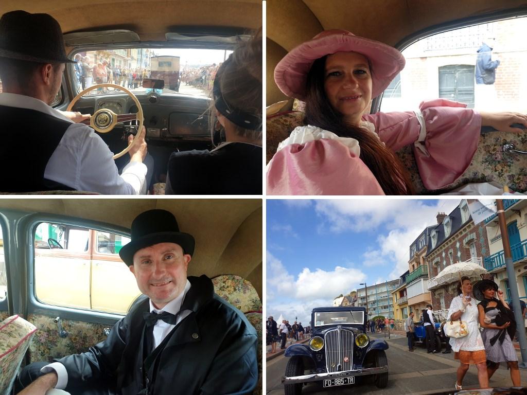 Défilé en vieille voiture à la Fête des Baigneurs de Mers-les-Bains