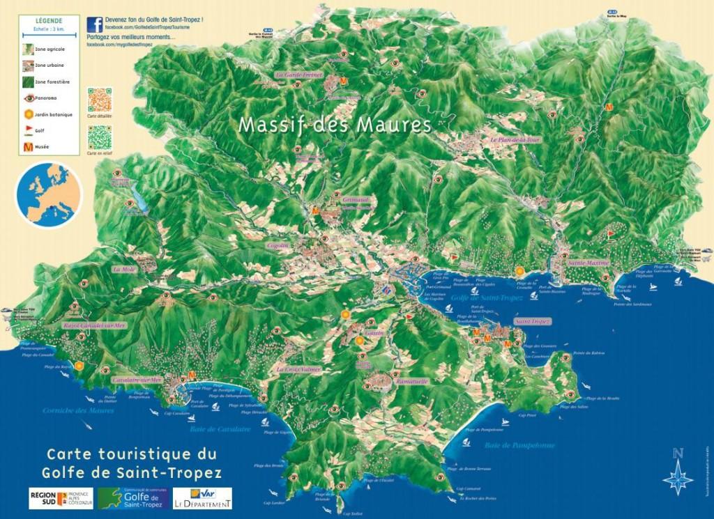 Golfe de Saint-Tropez : carte