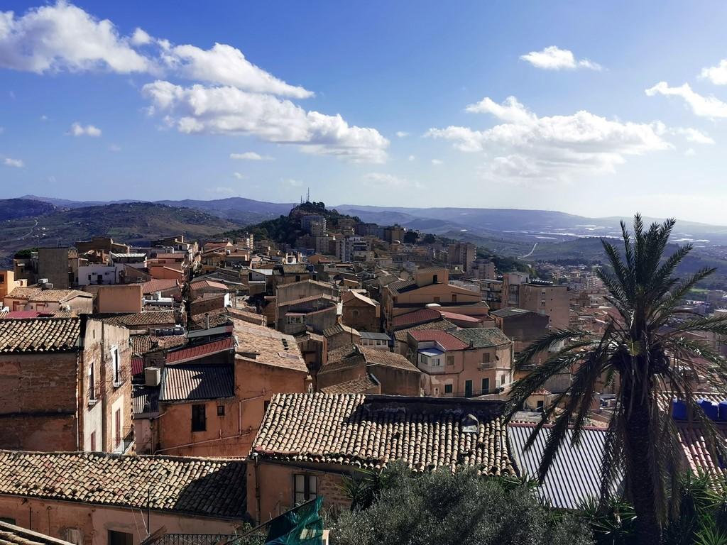 Sicile en Novembre : Vue sur les toits d'Agrigente