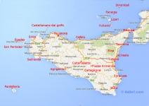 La carte de la Sicile