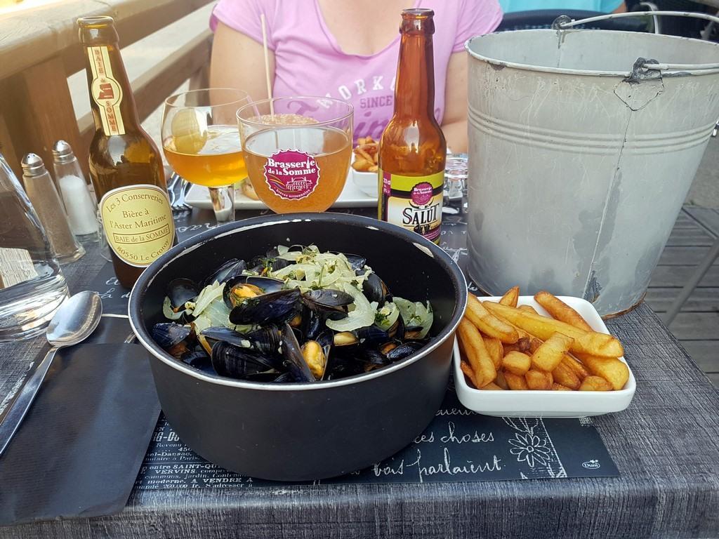 Que faire en Baie de Somme : manger des moules frites