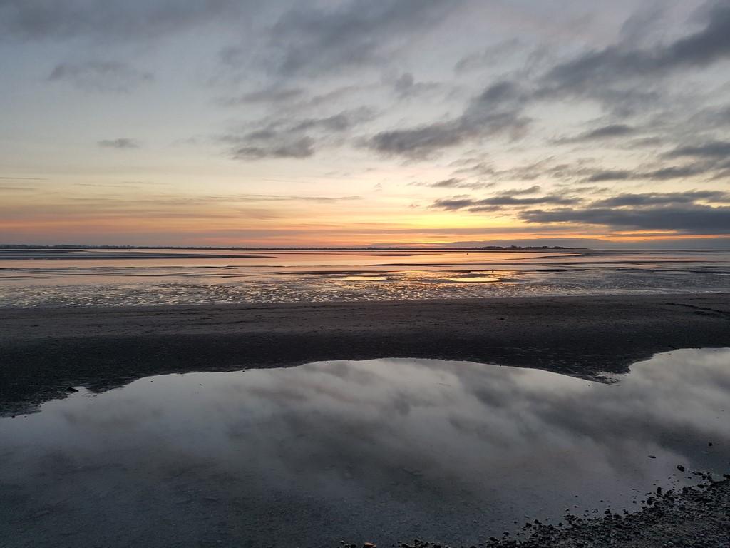 Que faire en Baie de Somme : coucher de soleil à Le Crotoy