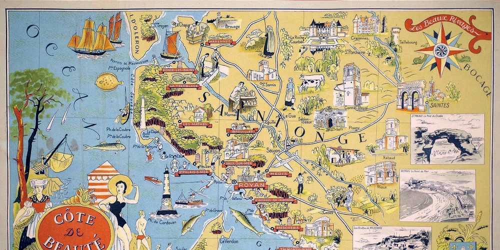 Carte de la Côte de Beauté