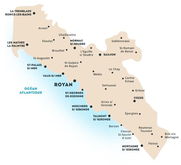 Au Pays de Royan : la carte