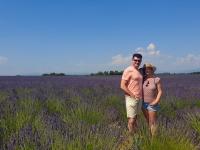 Les Vadrouilleurs dans les champs de lavande du Verdon
