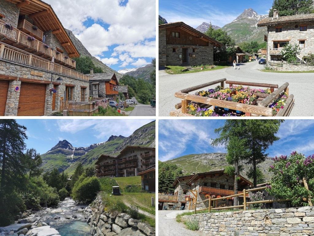 Bonneval sur Arc en été : le hameau de Tralenta