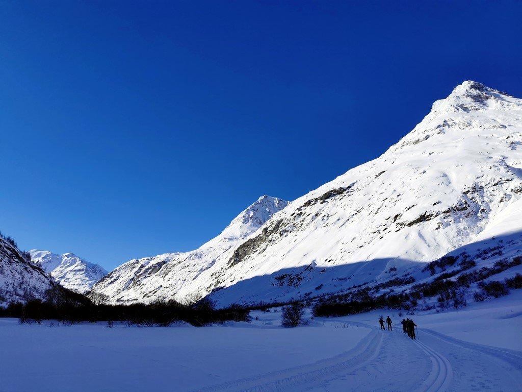 Bonneval sur Arc en hiver : balade direction Bessans