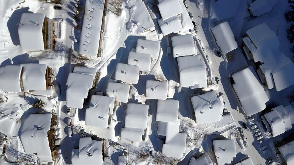 Bonneval sur Arc en hiver : vue de drone sur Tralenta