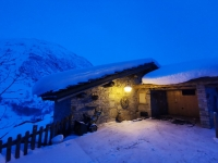 Bonneval sur Arc en hiver : chalet Ouille du Midi
