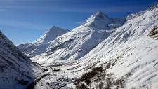 Bonneval sur Arc en hiver : vue de drone