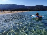 Corse en Septembre : plage de Calcatoggio