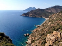 Paysage de Corse en Septembre